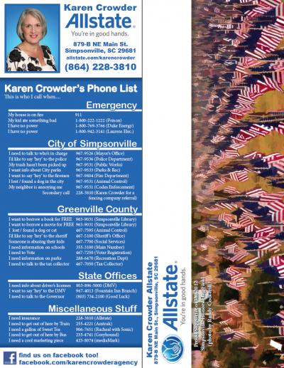 Karen Crowder Phone List